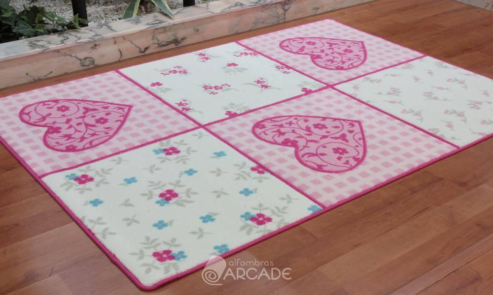 Alfombras arcade alfombra infantil romantic rosa alfombras arcade - Alfombra infantil rosa ...