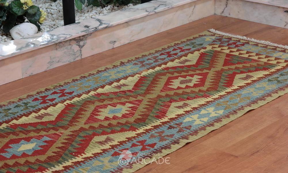 Alfombras arcade kilim afgano 504 84 x 294 alfombras for Alfombras orientales outlet