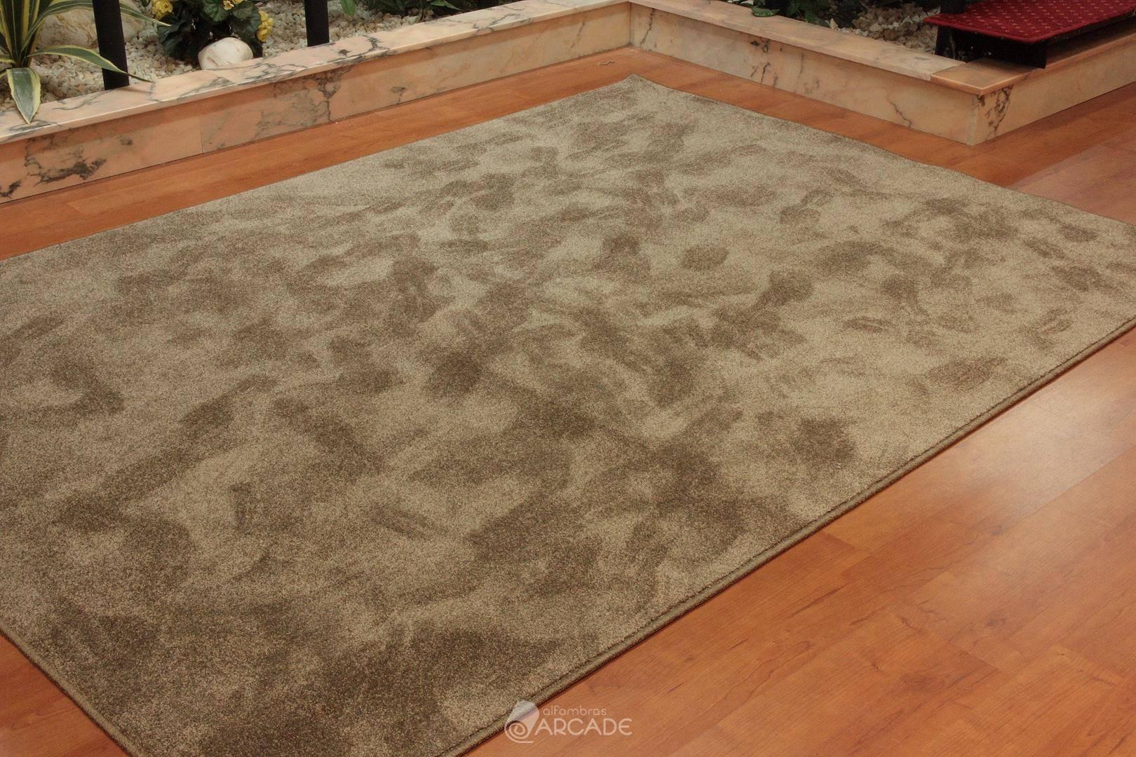 Alfombras arcade alfombra efecto seda marr n - Alfombras kp efecto seda ...