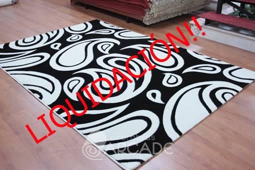Alfombras arcade alfombra moderna paula 1086 negro for Outlet alfombras modernas
